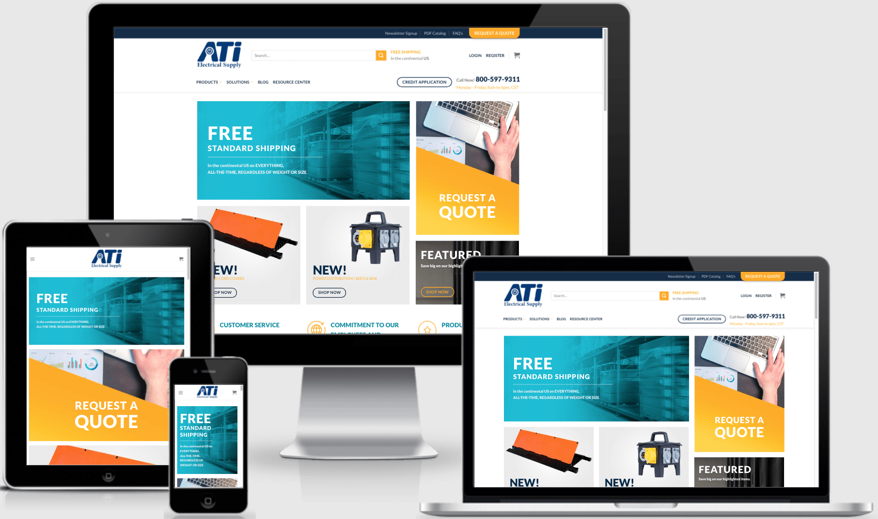 ATI Electrical Responsive Website Design